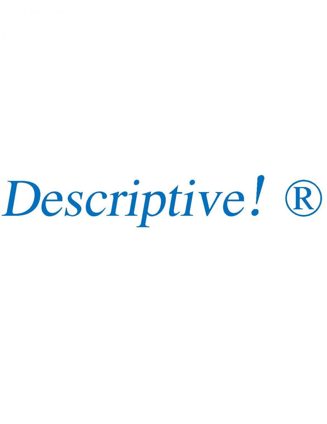 A Concise Guide to the Lowly Descriptive Trademark